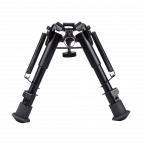 Simply Firearms ® 6- to 9- Adjustable Spring Return Sniper Hunting Rifle Bipod Sling Swivel Mount in Black