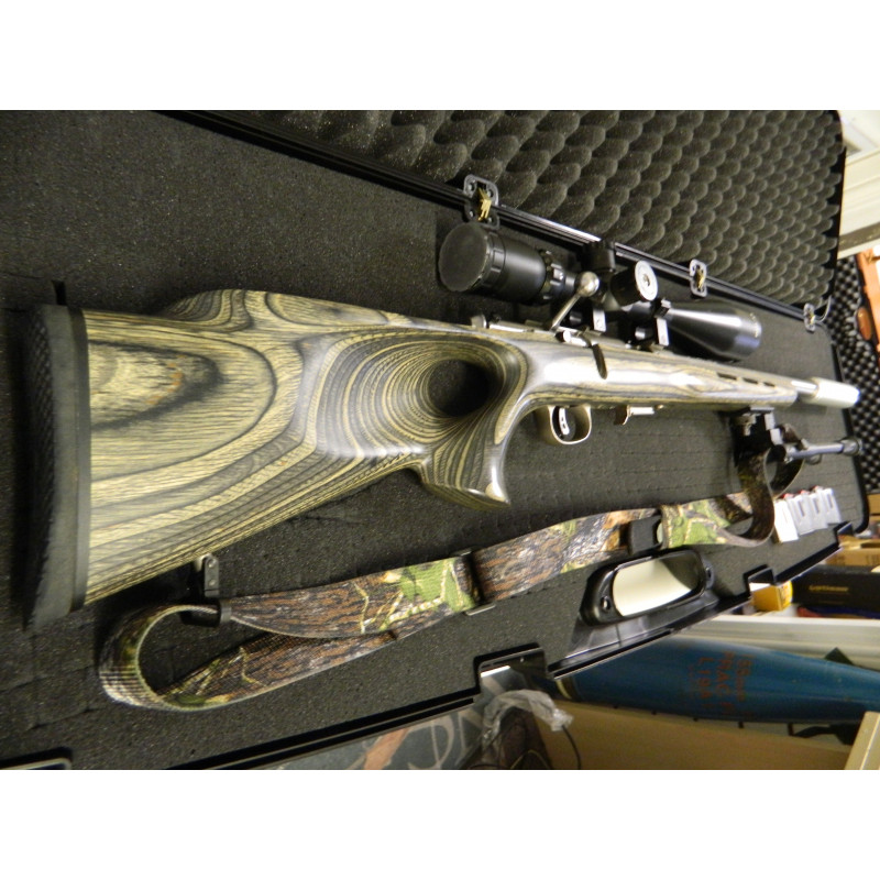 Savage Arms 93r17 17 HMR Stainless Bolt Action Rifle Full Set Up, Scope Mounts,Bipod,Sling,Moderator + Hard Case