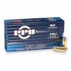 45 ACP FMJ 230gr PPU Ammunition Pack 50  Handgun ammunition manufactured by PPU (Prvi Partizan)