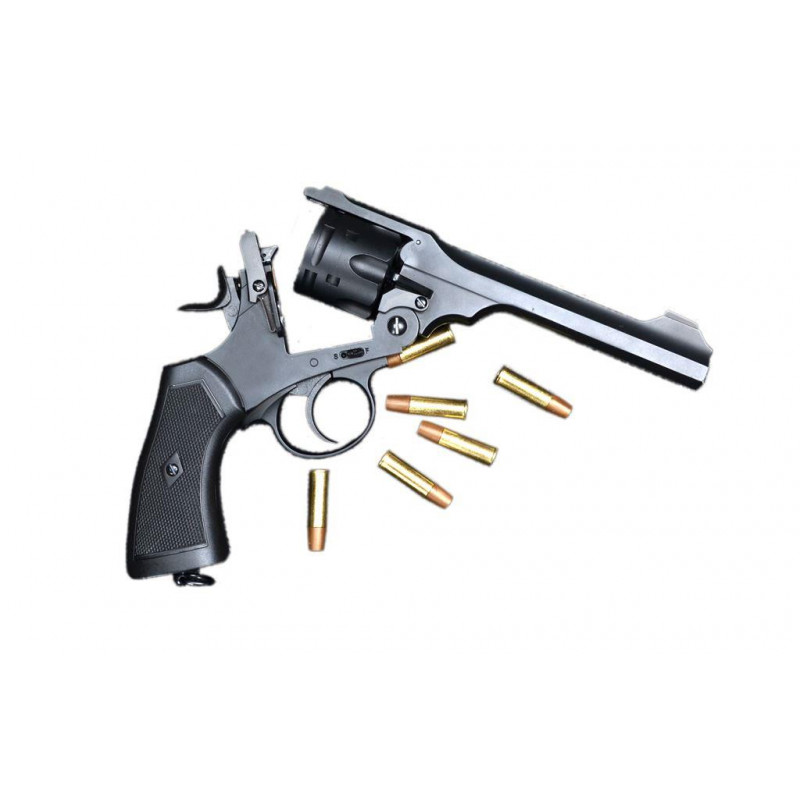 Webley MkVI .455 Service Revolver Combo 5 x Co2 + Bag of Pellets+ Targets